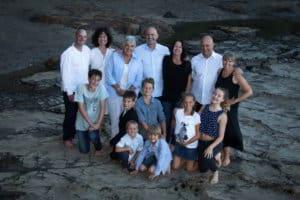 Extended family Portrait at Castor Bay Beach - Auckland